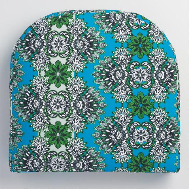 Gusset Blue Esmeralda Outdoor Chair Cushion
