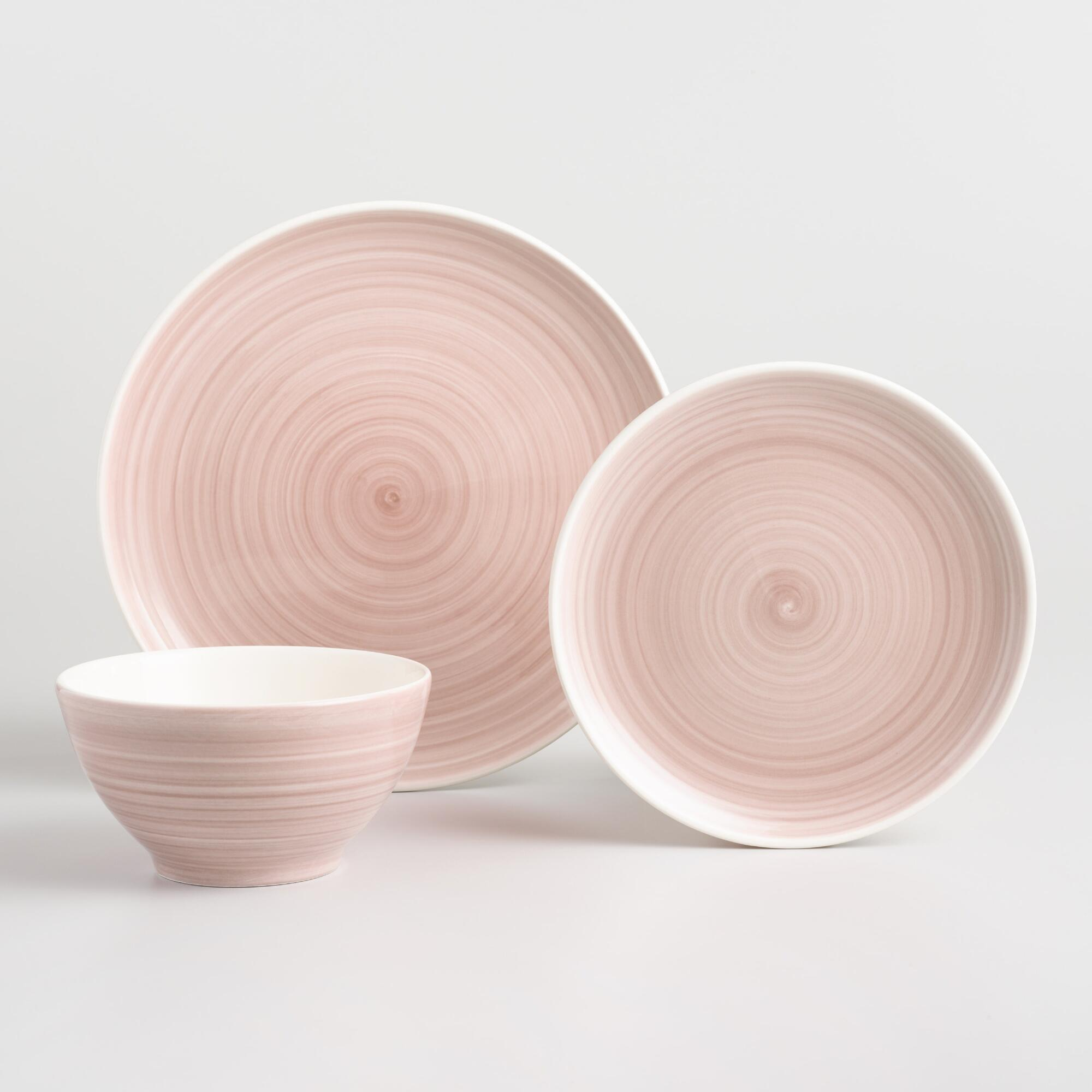 Blush Spinwash Dinnerware Collection by World Market