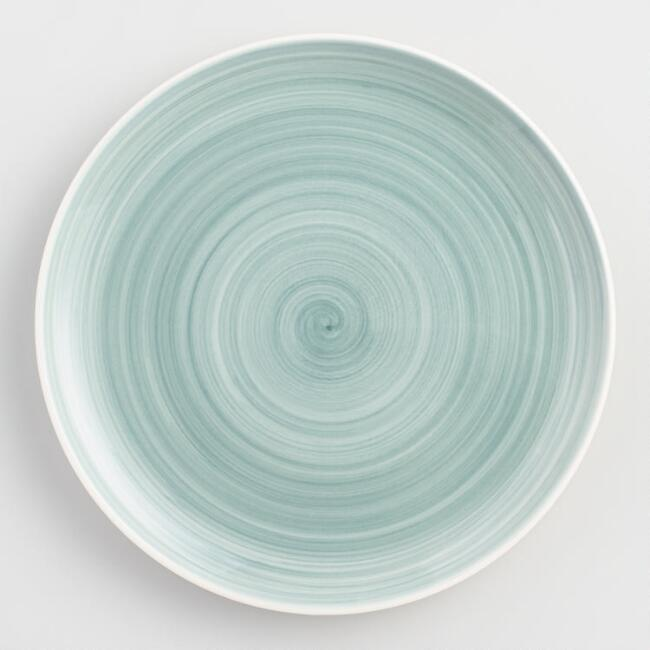 Aqua Spinwash Dinner Plates Set of 4