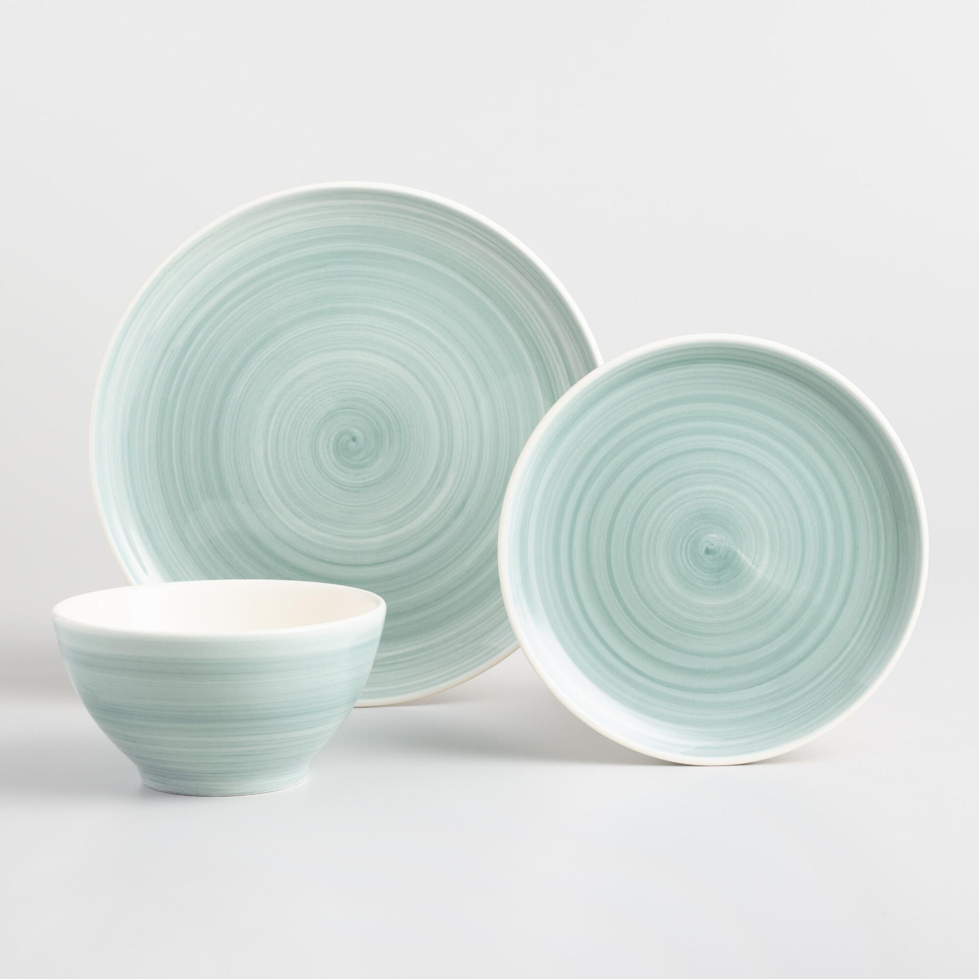 Aqua Spinwash Dinnerware Collection by World Market