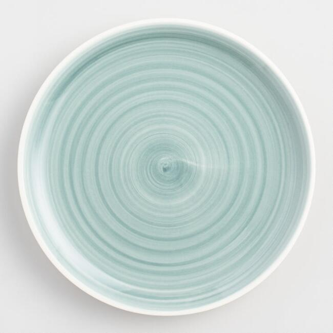 Aqua Spinwash Salad Plates Set of 4