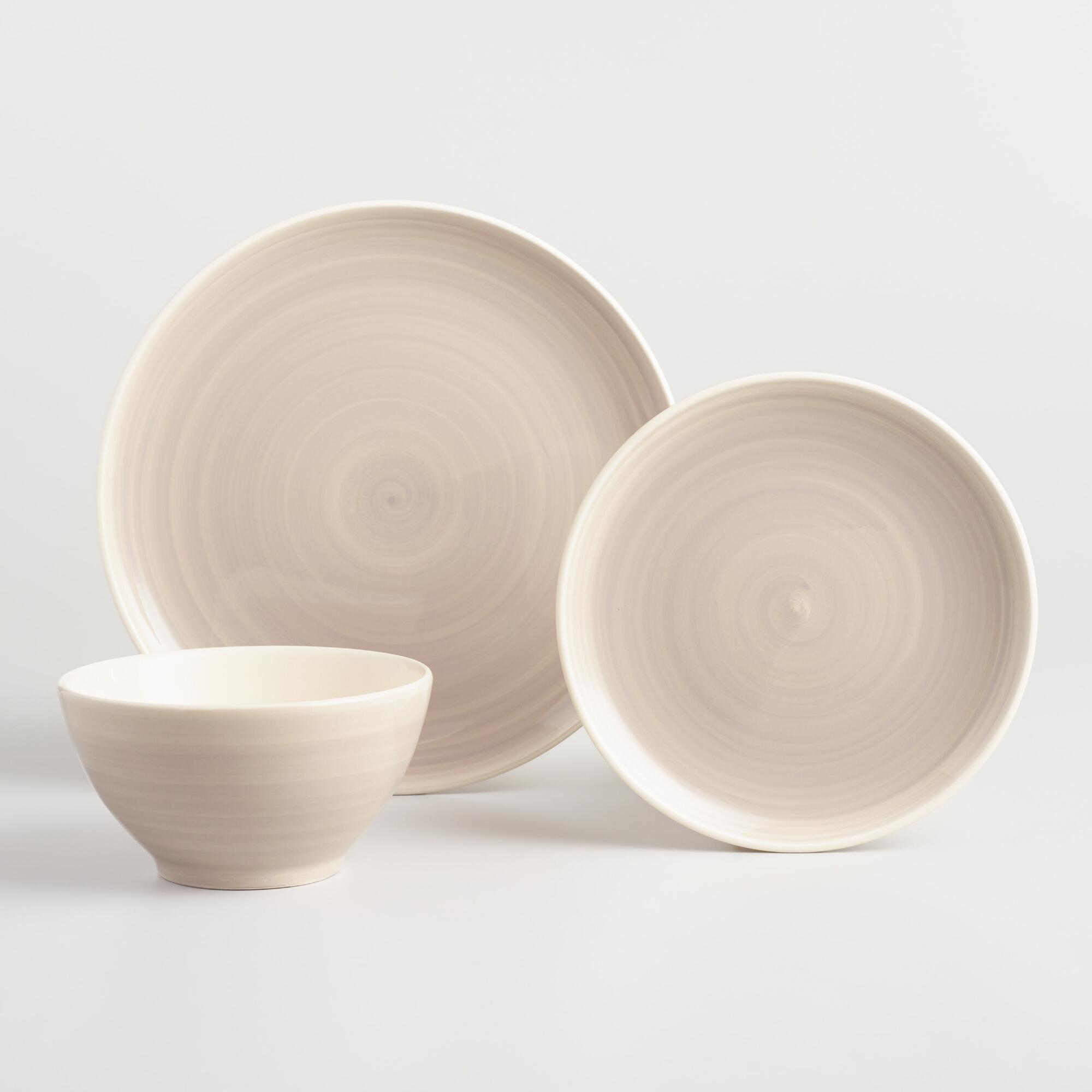 Gray Spinwash Dinnerware Collection by World Market