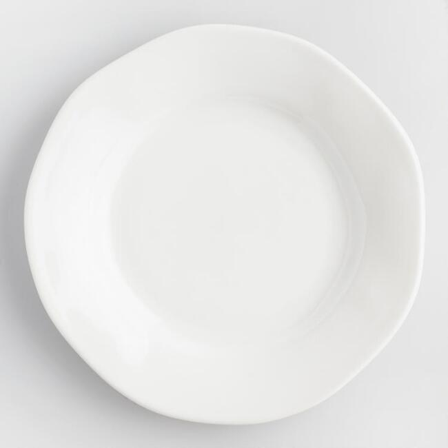 White Italian Organic Dinner Plates Set of 4