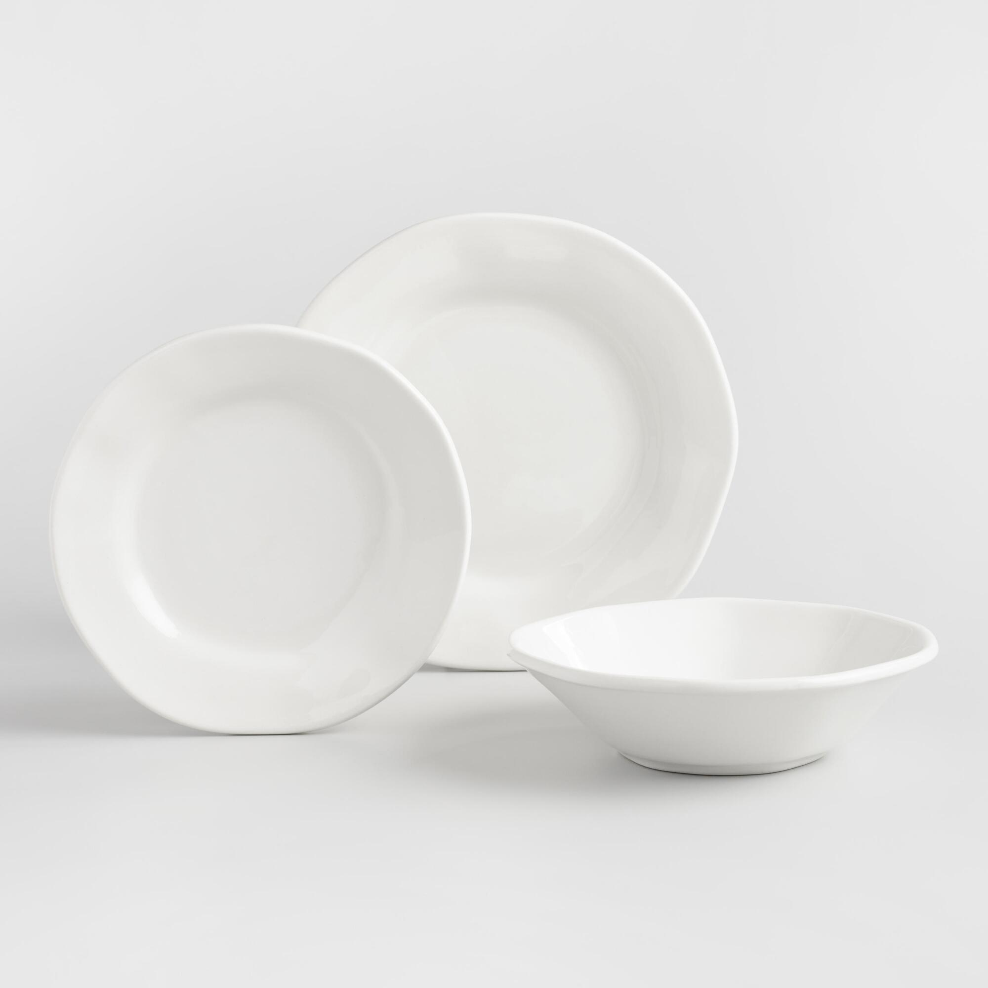 White Italian Organic Dinnerware Collection by World Market