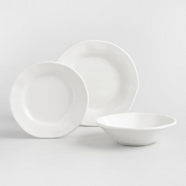 White Italian Organic Dinnerware Collection