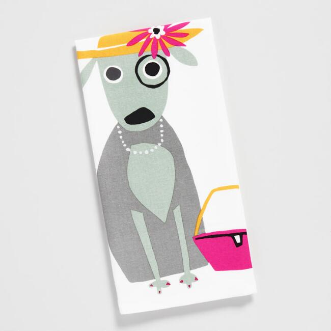 Posh Pup with Purse Kitchen Towel