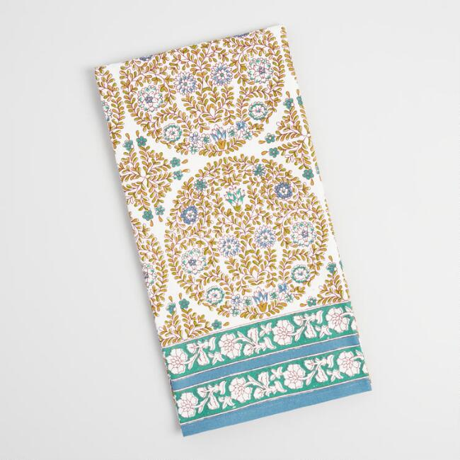 Green and Blue Medallion Kitchen Towel