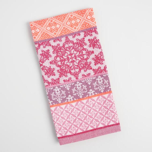 Warm Patchwork Jacquard Kitchen Towel