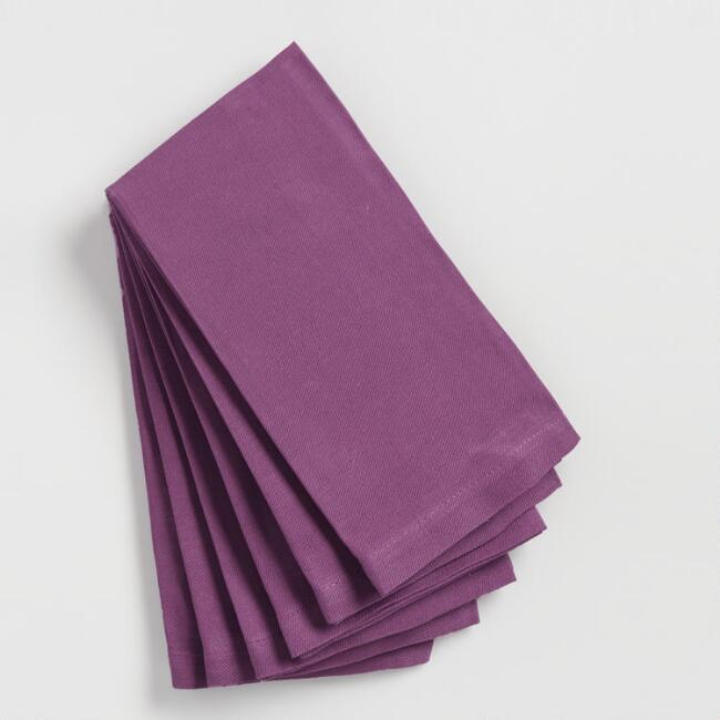 Violet Buffet Napkins Set of 6