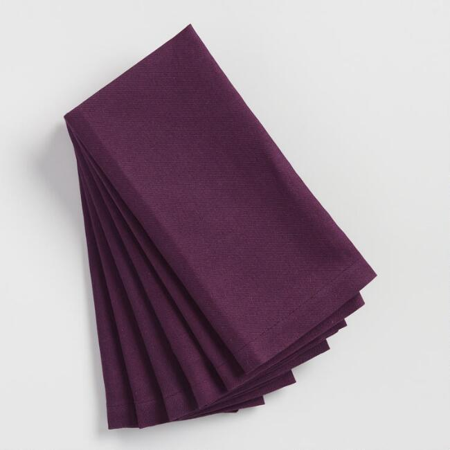 Dark Purple Buffet Napkins Set of 6