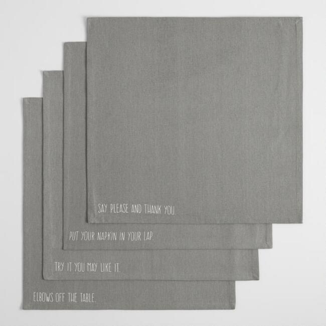 Manners Napkins Collection