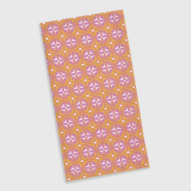 Lavender and Yellow Geometric Jaipur Napkins Set of 4