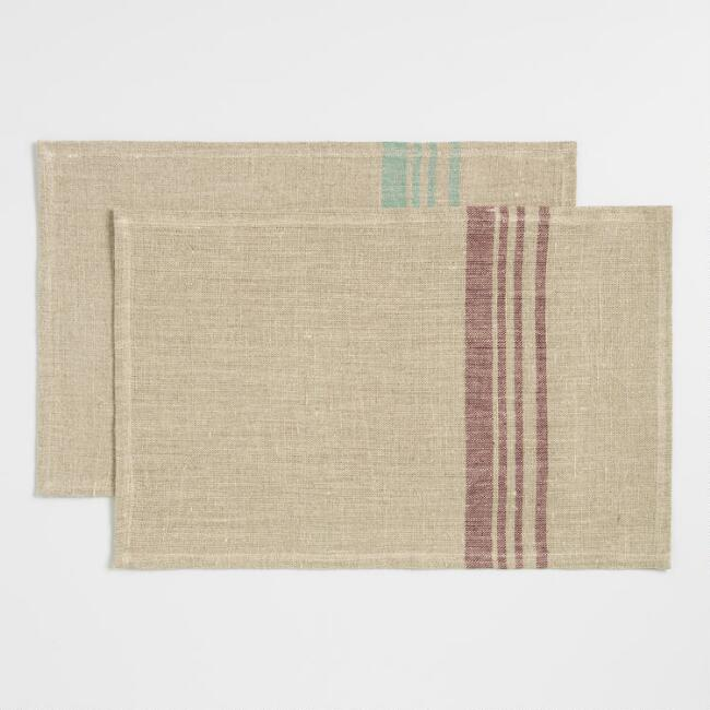 Stripe Linen Placemat Collection
