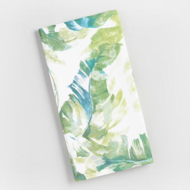 Palm Print Kitchen Towel