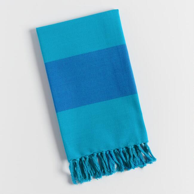 Blue Awning Stripe Kitchen Towel