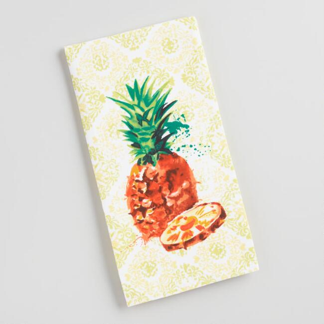 Watercolor Pineapple Kitchen Towel