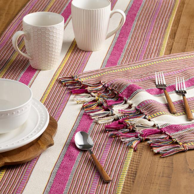 Woven Ayana Indoor Outdoor Table Linen Collection