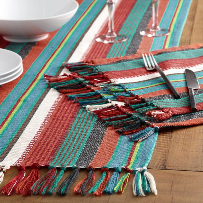 Woven Sakari Indoor Outdoor Table Linen Collection