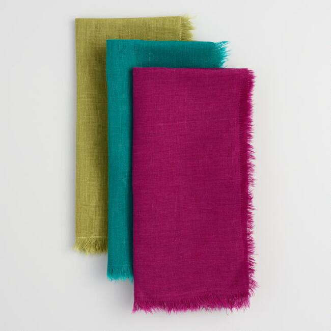 Fringed Linen Napkins Collection