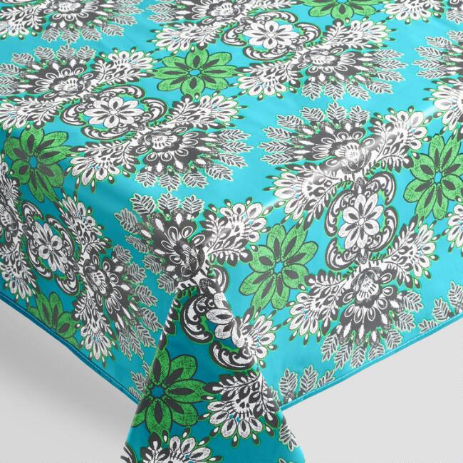 Green and Blue Esme Outdoor Tablecloth