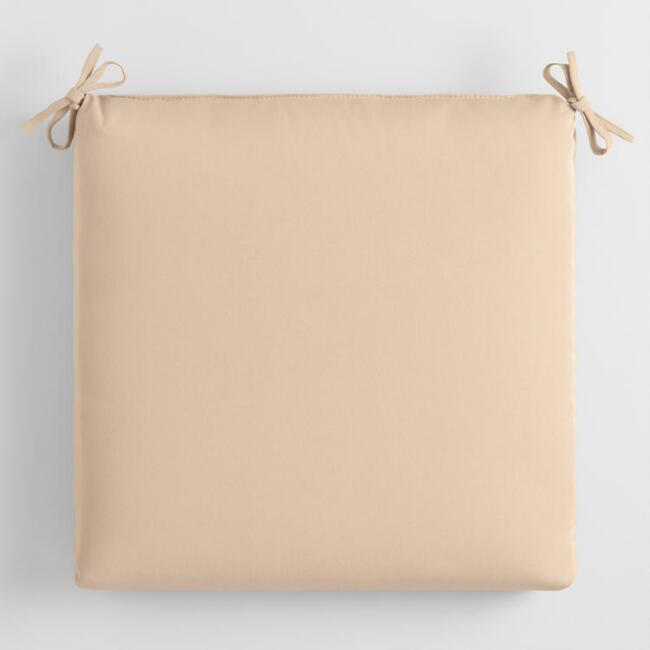 Sunbrella Beige Canvas Outdoor Chair Cushion