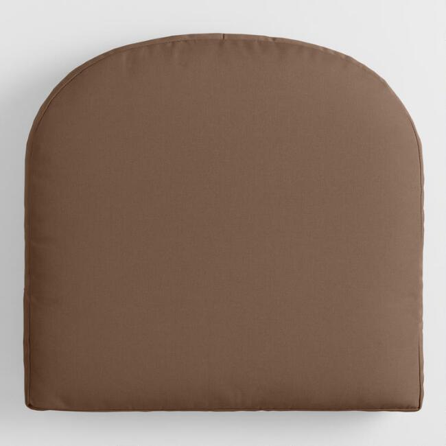 Sunbrella Chestnut Canvas Gusseted Outdoor Chair Cushion