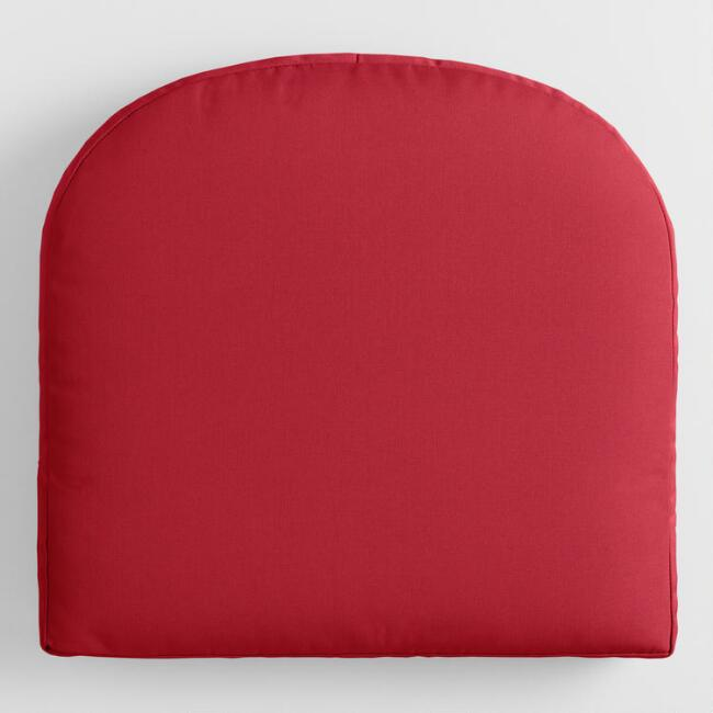 Sunbrella Jockey Red Canvas Gusseted Outdoor Chair Cushion