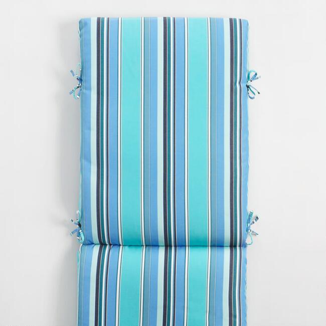 Sunbrella Oasis Dolce Stripe Outdoor Chaise Lounge Cushion