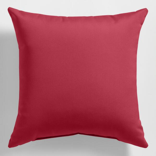 Sunbrella Blush Pink Canvas Outdoor Throw Pillow