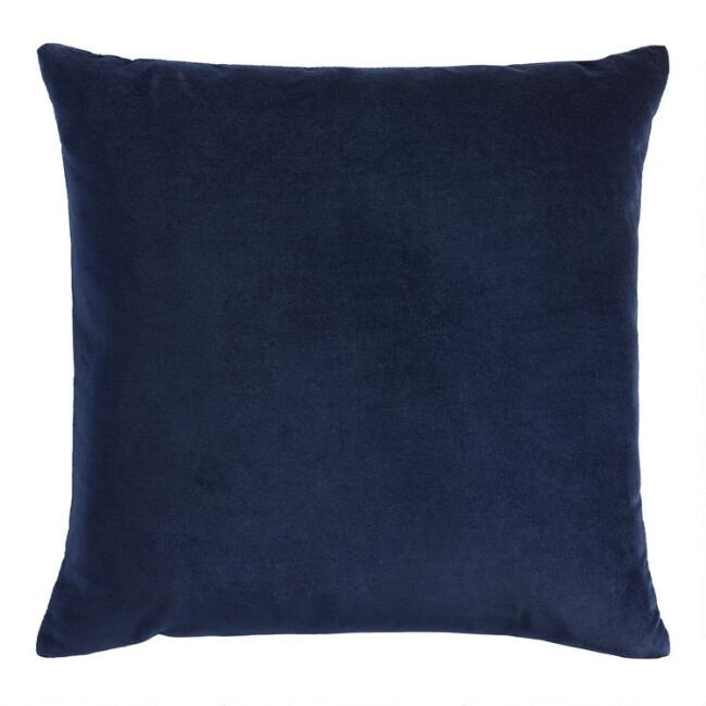 Navy Blue Velvet Throw Pillow World Market