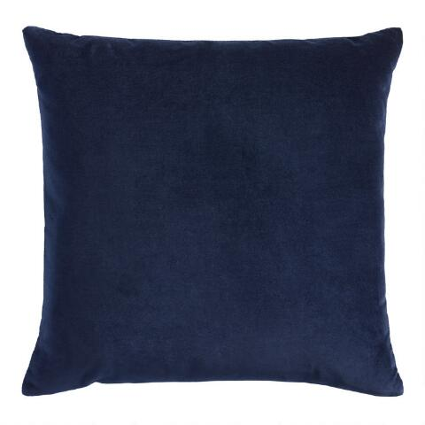 Strange Navy Blue Velvet Throw Pillow Theyellowbook Wood Chair Design Ideas Theyellowbookinfo