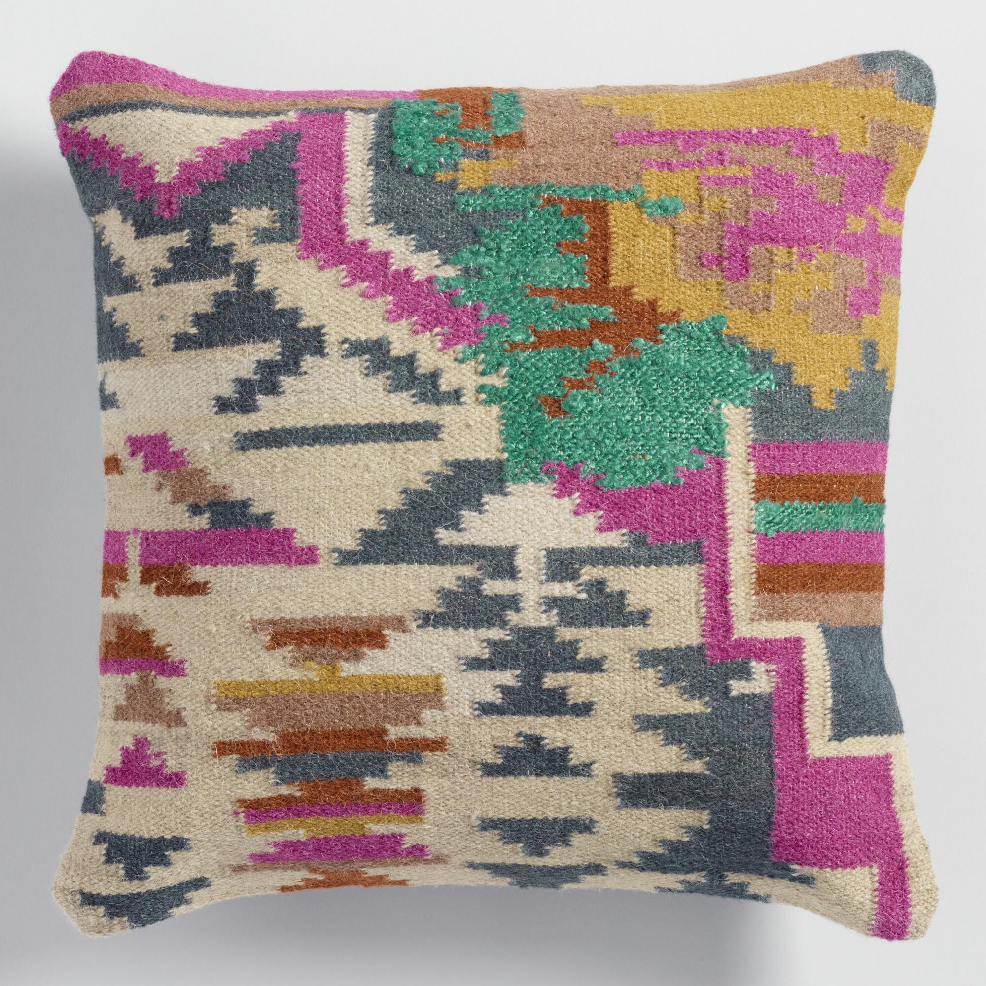 Vibrant colors in pillows add to springtime decor