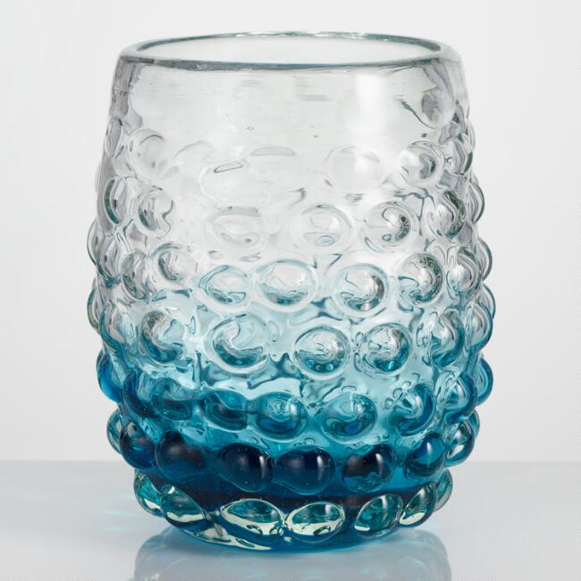 Blue Ombre Catalina Stemless Glasses Set of 4