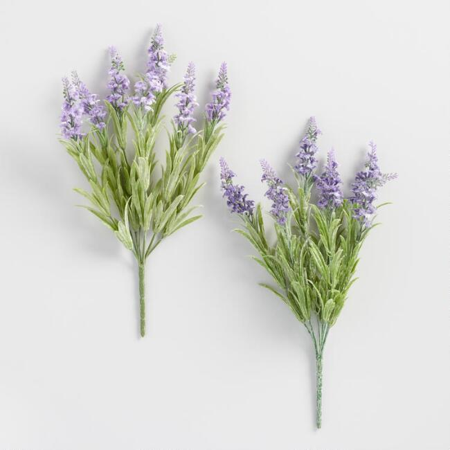 Faux Lavender Bunches Set of 2