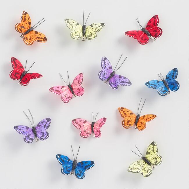 6 Piece Butterfly Clips Set of 2