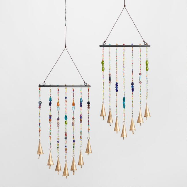 Beaded Iron Wind Chimes Set of 2
