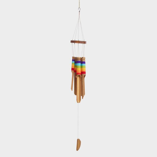 Bamboo Rainbow Wrap Wind Chime