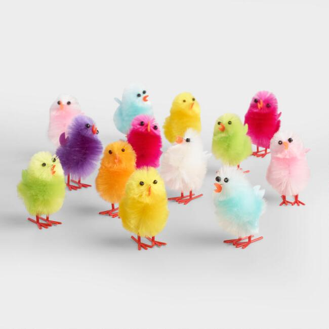 12 Piece Fabric Chicks Set of  4