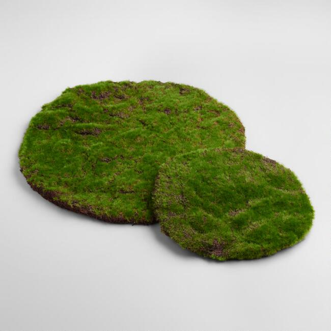 Round Mossy Table Mats