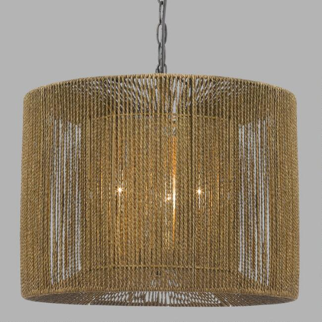 Rope String 3 Light Morgan Pendant