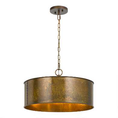 Distressed Bronze Patina 3 Light Winta Pendant Lamp