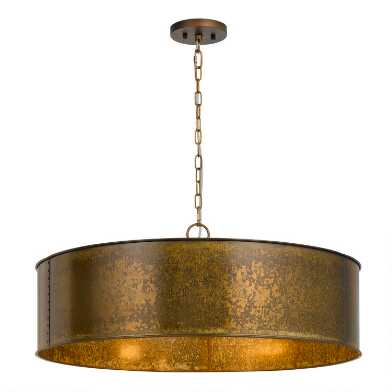 Distressed Bronze Patina 5 Light Winta Pendant Lamp