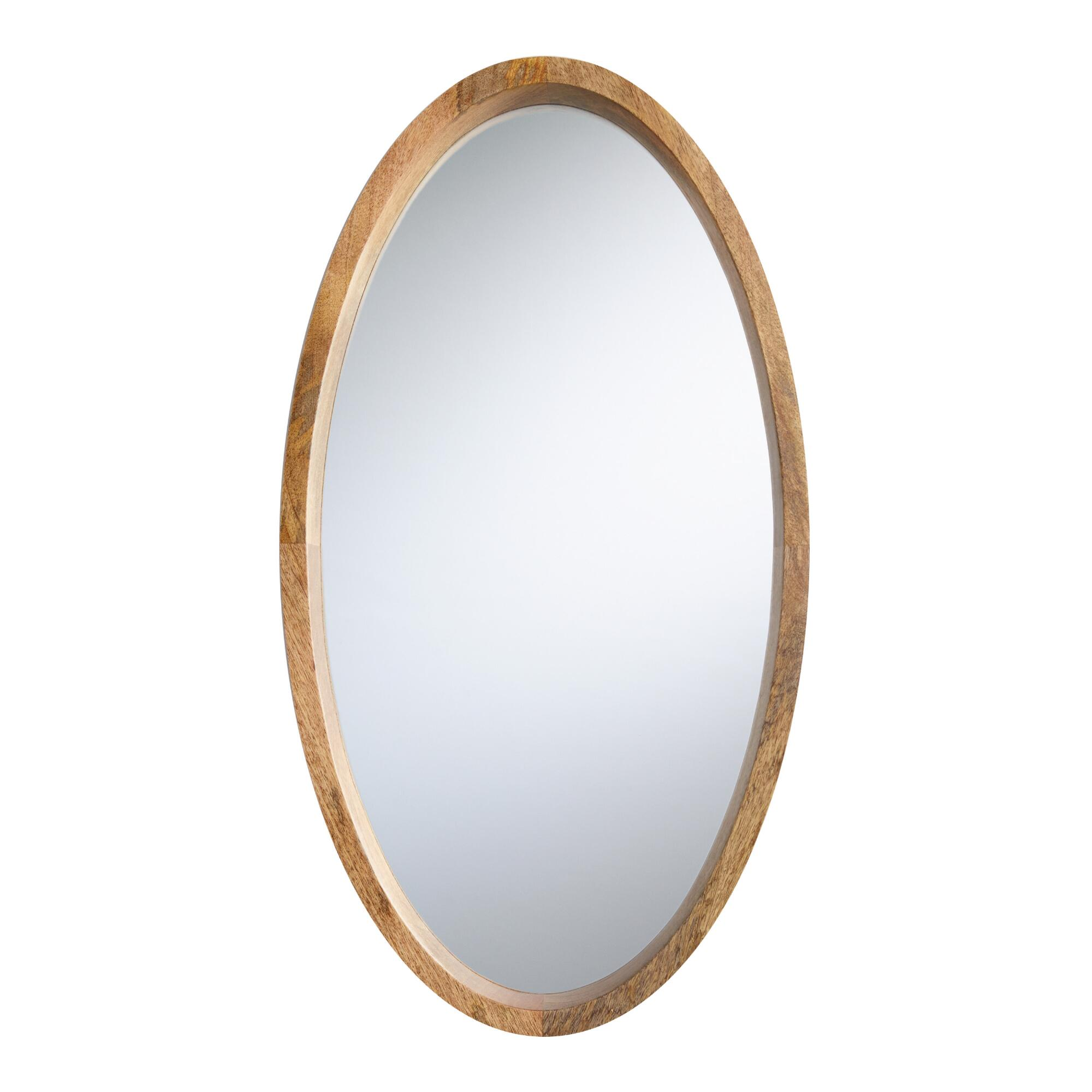 Oval Evan Mirror: Natural - Wood by World Market