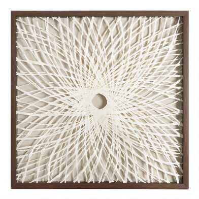 Rice Paper Spiral Shadow Box Wall Art