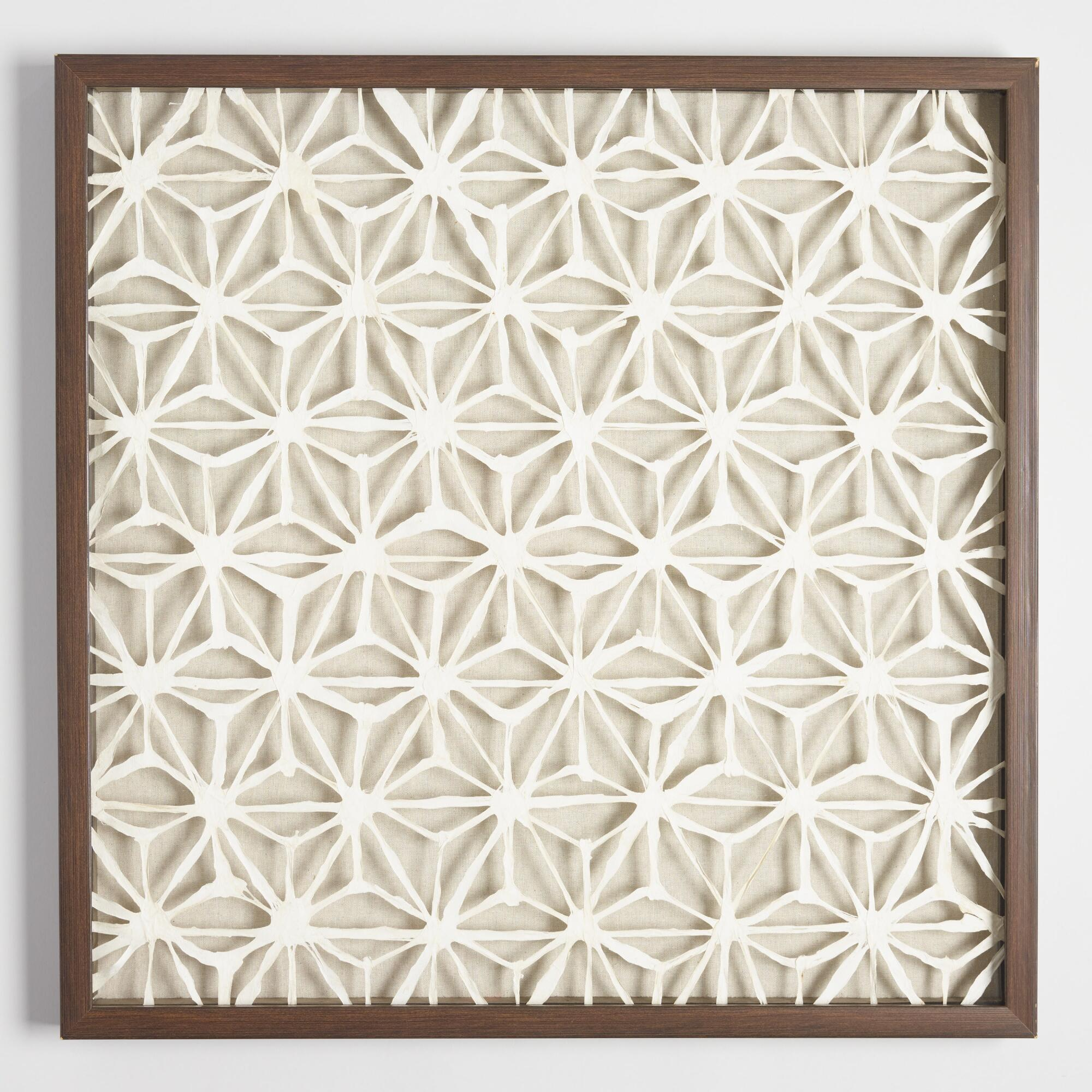 rice paper star shadowbox wall art - Wall Decorations
