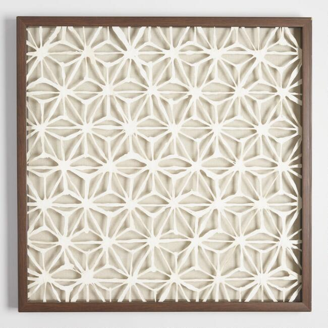 Rice Paper Star Shadow Box Wall Art