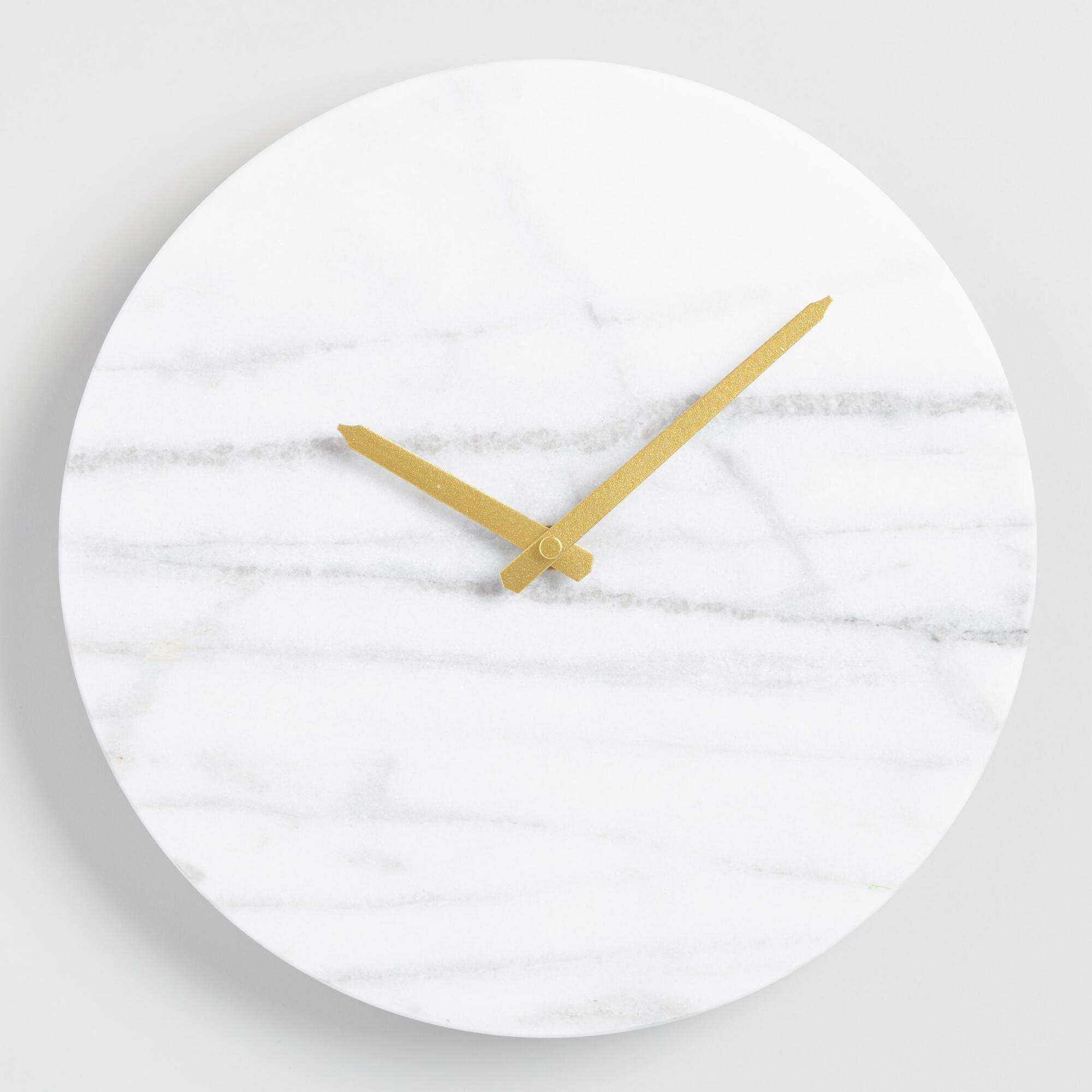 Parker marble wall clock world market amipublicfo Choice Image
