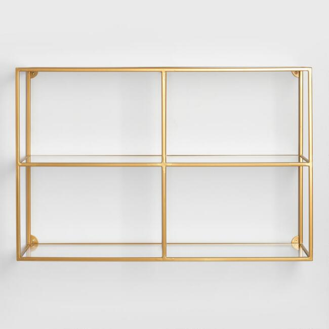 Adler Glass Wall Shelf | World Market