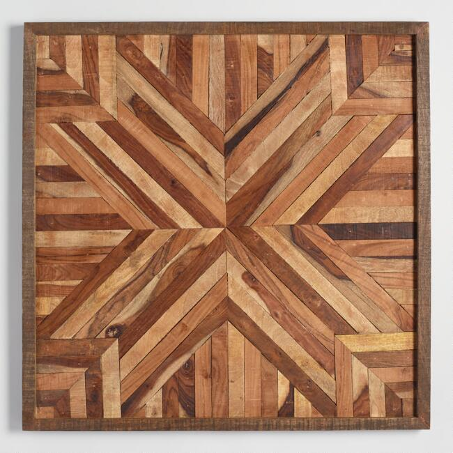 Wood Parquet Wall Art