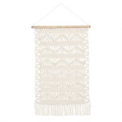 White Macrame Wall Hanging